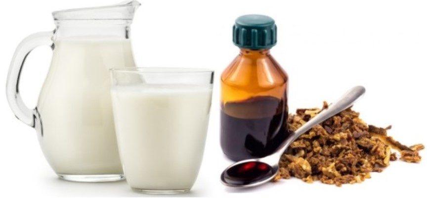Настойка прополиса с молоком