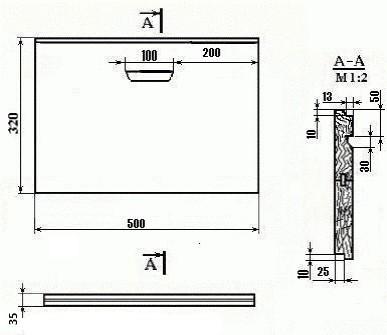 Чертёж 10 рамок (Боковая стенка корпуса) №3