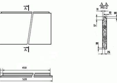 Чертёж 12-ти рамочного улья ДАДАНА (Чертёж корпуска. Передняя и задняя стенки корпуса.) №1