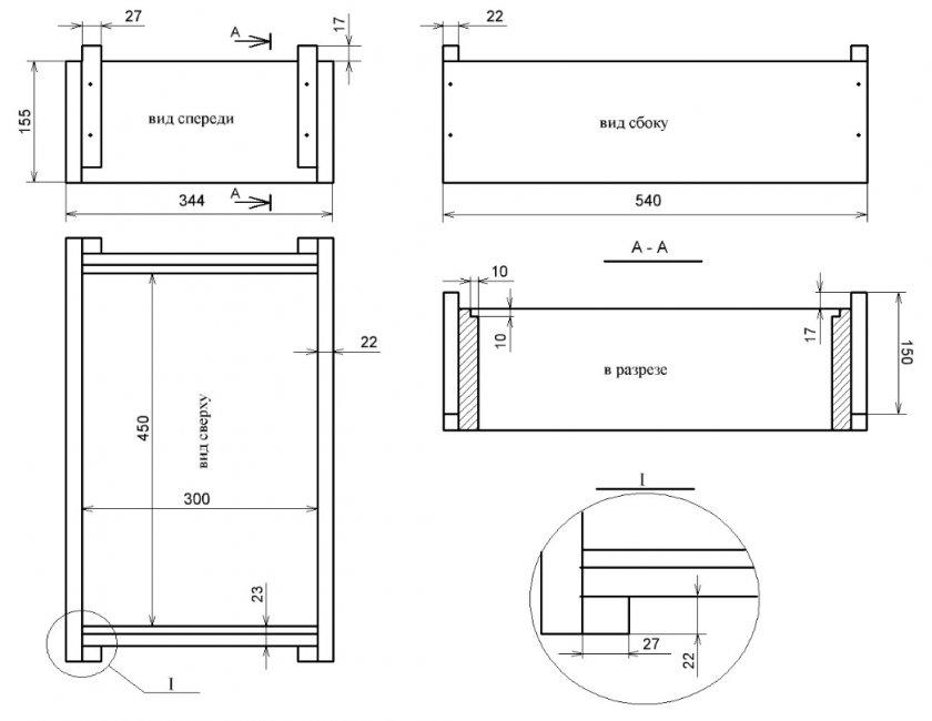 Размер и чертеж восьмирамочного улья