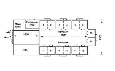 Схема в разрезе павильон