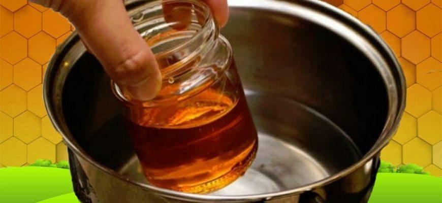 Мед на паровой бане